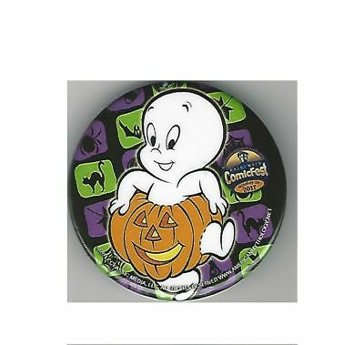 Casper The Friendly Ghost  ComicFest 2017 Button Pin HalloweenPumpkin NEW!