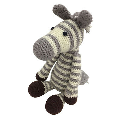 DIY Zebra Doll Crochet Kit for Adults Hand Knitting Stuffed Toy Sewing Craft