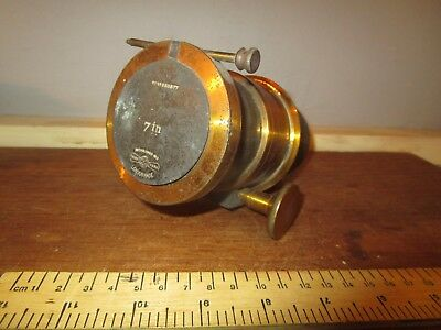 Antique Brass Petzval type rack & pinion London Made 7 in Magic Lantern lens(6)