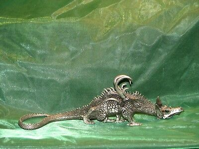 Magnificent Pewter Dragon Mithril With Emerald Green Eyes ~ Rawcliffe Pewter