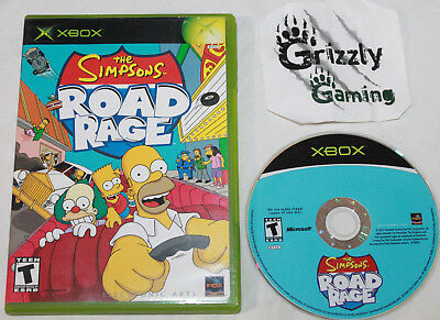 USED The Simpsons Road Rage Microsoft XBOX Canadian Seller
