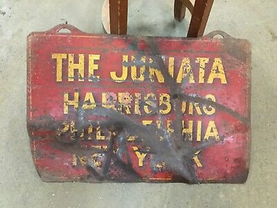 Pennsylvania Railroad Track Sign Juniata Harrisburg Philadelphia New York PRR