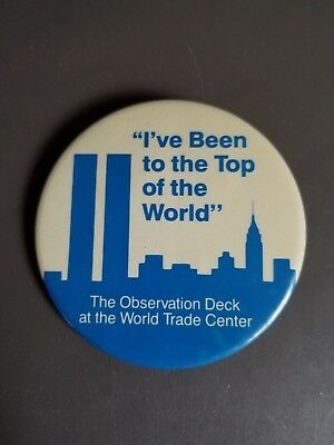 Vintage World Trade Center - Twin Towers Top of the World pin / button