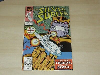 Silver Surfer #34 Key Issue Thanos Returns High Grade Sweet Thanos Surfer Cover!