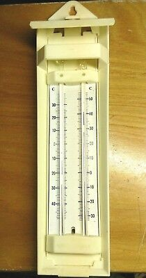 Vintage retro Thermometer & Hygrometer.G.H.ZEAL of London.Moisture & Temperature