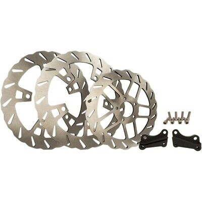 """Trask TM-2950 Double XL 13"""" Wave Front & Rear Rotor Brake Kit 14-19 Harley FLH/T"""