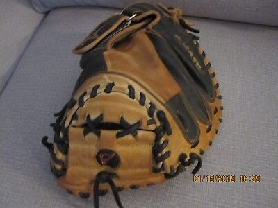 "All Star Pro Elite CM3000 33.5"" Catchers Mitt Baseball Glove Black Camel"