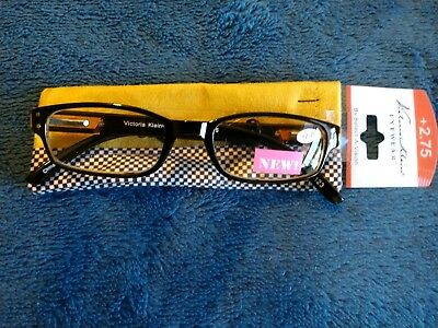 707c444c4a87 Select-A-Vision Victoria Klein Eyewear Fashion Readers 9076 +2.75 NEW Brown