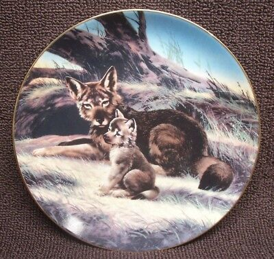 RED WOLF Last Their Kind Endangered by Will Nelson Collectible Plate BRADEX 1989