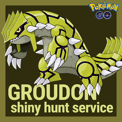 Pokemon Go: (3 raids) Groudon shiny hunt service, by hand, no spoof/bot!