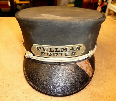 Vintage Railroad Pullman Porter Hat From Ruby's in Chicago - Size 7