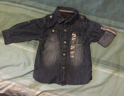 Baby Boys Tommy Hilfiger Denim Shirt Age 12 Months
