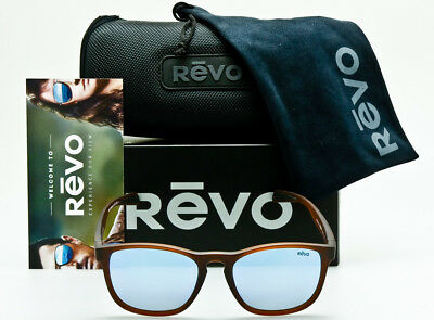 1eda872974 NEW REVO HANSEN RE1019 02BL Matte Dark Crystal Brown w Blue Water Polarized  55mm