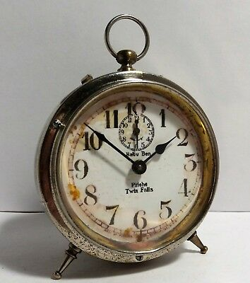 Antique1916 Style1 Private Label Westclox BABY BEN Alarm Clock Western Clock Co