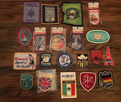 Lot Of 20 Souvenir Patches From different states
