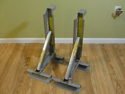 2 QUAL CRAFT Qual-craft ALUMINUM 2 RUNG LADDER JACKS