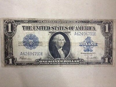 Series Of 1923 LARGE 1$ Silver Certificate