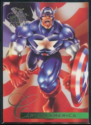 1995 Flair Marvel Annual Trading Card #107 Captain America