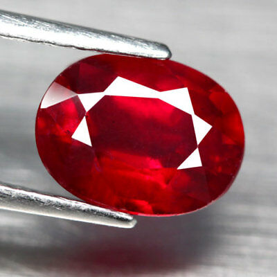 2.49Ct. Captivating! Oval Facet Top Blood Red Natural Ruby Madagascar