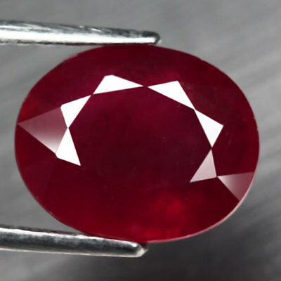 5.83Ct. Glorious! Big! Oval Facet Top Blood Red Natural Ruby Madagascar