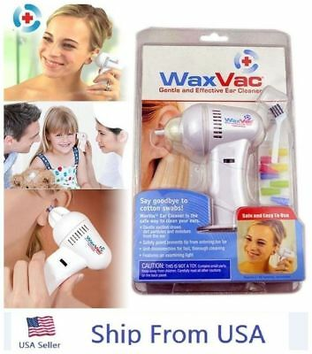 WaxVac Ear Cleaner Wax Remover Wax Vac As Seen On TV New Sealed Shipped From USA