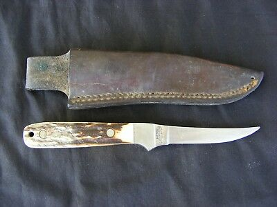 UNCLE HENRY SCHRADE U.S.A 164 KNIFE + LEATHER SHEATH ~ Vintage, Collectable, Old