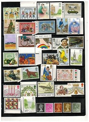 Lot of Great Britain Old Stamps MNH