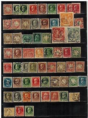 Lot of Germany Bavaria Old Stamps Used