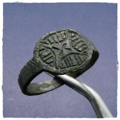 ** **  Legio X Equestris ** **  ancient BRONZE  Roman ring !