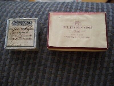 Vintage Pharmacy Drug Store Medicine Boxes Mullers Drug Store Carson City Nevada