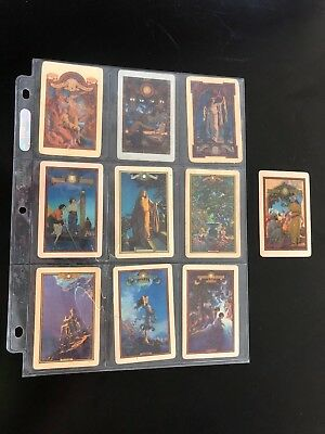 Maxfield Parrish Full Set 10 Diffferent Edison Mazda Playing Cards 1920's