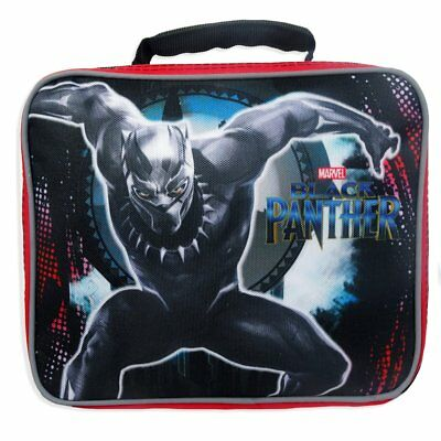 Marvel Avengers Black Panther PVC /& BPA-Free Insulated Lunch Tote Box