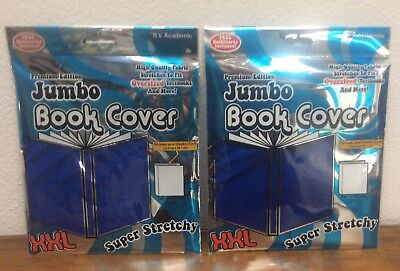 """2 Pack - It's Academic Premium Jumbo Book Cover XXL Up To 15""""x10""""  Royal Blue"""