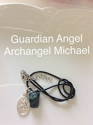Code 270 Indian Agate Archangel Michael Guardian Angel infused Charged necklace