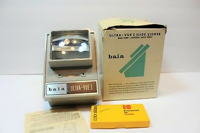 Baia Ultra Vue 1 Illuminated Slide Viewer 2x Magnification with 2x2 slides USA