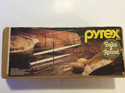 Vintage Pyrex Bake A Round by Corning  Bread Dough Glass Baking Tube