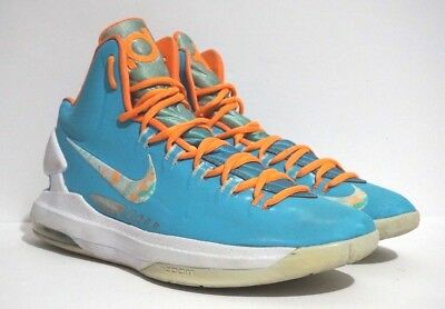 new arrival d96dd d0207 Nike Zoom KD V Easter Turquoise Blue Bright Citrus Mens Shoes 554988-402 SZ  10