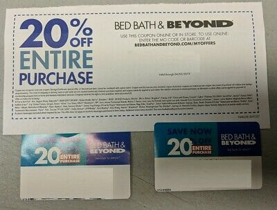 Bed Bath And Beyond 20 % off ENTIRE PURCHASE (ONLINE OR IN-STORE see listing)