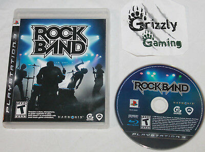USED Rock Band Sony PlayStation 3 PS3 (NTSC) -Canadian Seller-