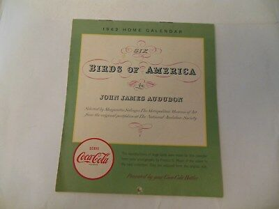 Coca Cola calendar 1962 Birds of America