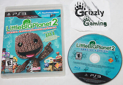 USED LittleBigPlanet 2 Sony PlayStation 3 PS3 (NTSC) -Canadian Seller-