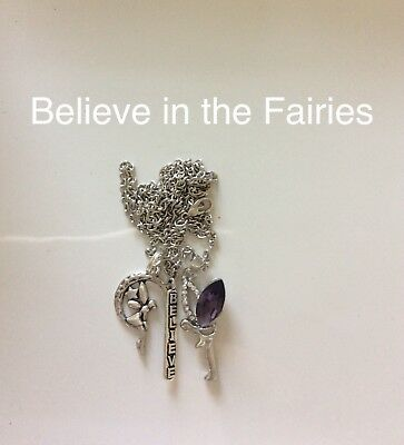 Code 272 Believe in the Fairies Infused Necklace Fairy purple Mystical Mystery