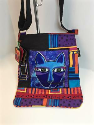 Whiskered Cats  NWT - large crossbody  Laurel Burch  LB5352