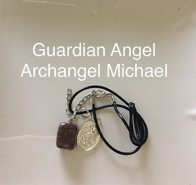 Code 272 Indian Agate Archangel Michael Guardian Angel infused Charged necklace