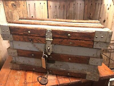 Antique VANDERMAN STRONG BOX for  Chest/Trunk! July 13, 1897