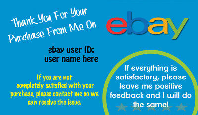 1000 eBay  seller THANK YOU Business Cards, Personalized   ****Free Shipping***