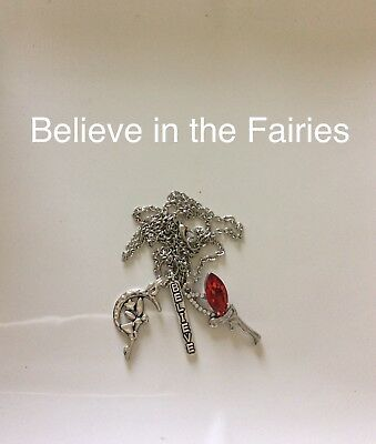 Code 273 Believe in the Fairies Infused Necklace Fairy Red Mystical Mystery