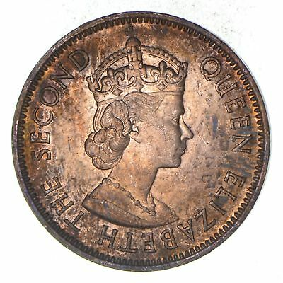 1965 British Caribbean Territories Eastern Group 1 Cent Historic World Coin *765
