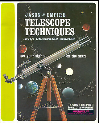 Jason Empire Telescope Techniques Vintage 1967 Manual With Illustrated Studies