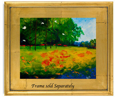Meadow Trees Flowers Natasha Petrosova Original Oil Painting Impressionism 4Rl